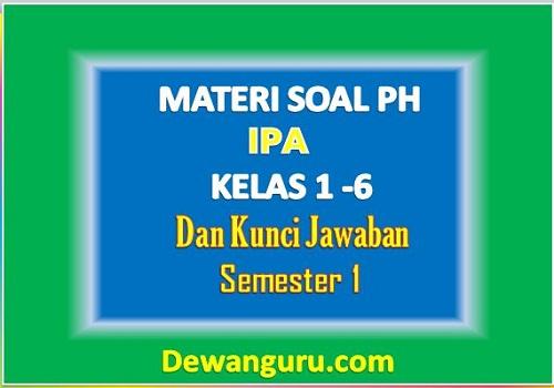 Materi Soal PH IPA Kelas 1-6 dan Kunci Jawaban
