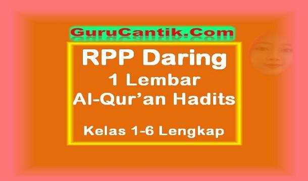 RPP Daring 1 Lembar Al-Qur'an Hadits Kelas 1-6 Update